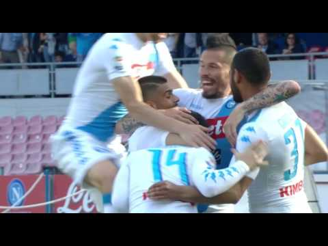 Il gol di Mertens (2') - Napoli - Cagliari 3-1 - Giornata 35 - Serie A TIM 2016/17