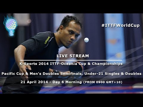 K-Sports 2014 ITTF-Oceania Cup & Championships Day 6, Men's Doubles SF, U21 Singles & Doubles Finals