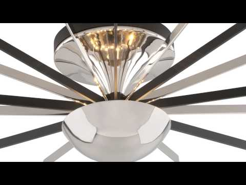 Video for Atomic Polished Brass and Matte Black LED Small Semi-Flush Mount