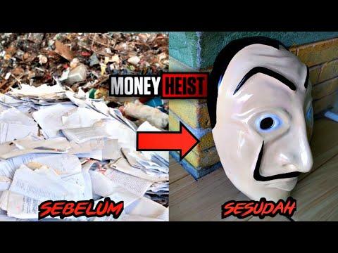 NGUBAH KERTAS JADI TOPENG MONEY HEIST FREEFIRE #freefire #moneyheist