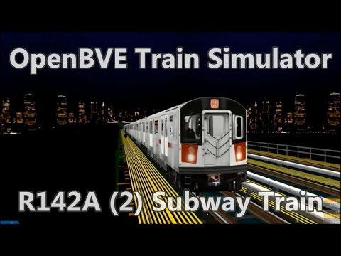 OpenBVE BVE Trainsim - NYCT R142A (2) Subway Train - subway Simulator mta