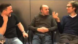 Ricky Gervais, Stephen Merchant and Karl Pilkington talk about the Ricky Gervais' Show