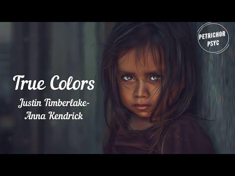 Justin Timberlake, Anna Kendrick: True Colors (Lyrics/Trolls) HD