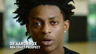 Draft Prospect De'Aaron Fox is working hard for his shot at the NBA. Watch as De'Aaron shares his thoughts on what motivates...