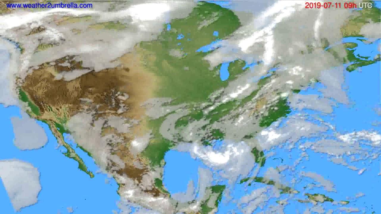 Cloud forecast USA & Canada // modelrun: 12h UTC 2019-07-09