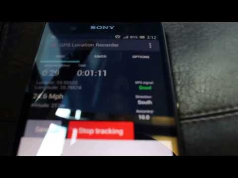 Video of GPS Distance Location Tracker
