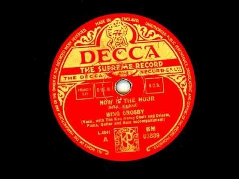 Tekst piosenki Bing Crosby - Now Is The Hour po polsku
