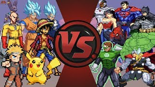 Nonton Anime Vs Justice League   Avengers  Goku  Naruto  Luffy  Pikachu Vs Superman  Batman  Hulk  Thor  Film Subtitle Indonesia Streaming Movie Download