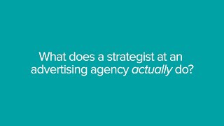 Billy Murphy from TBWA  LONDON sheds light on what it's like to be a strategist at a top advertising agency and provides some ...