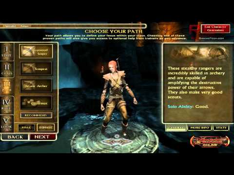 Dungeons and Dragons Online – Character Creation Options