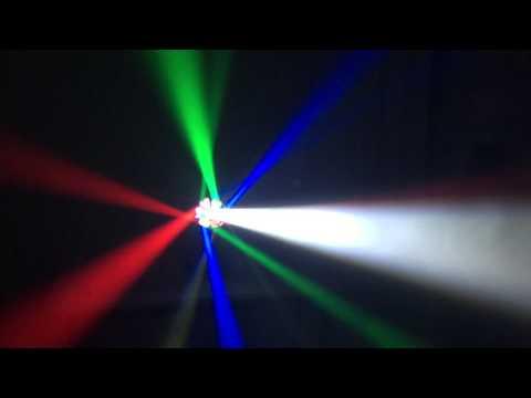 Đèn quay BE xòe tia nhiều màu sắc cho beer club, cafe DJ