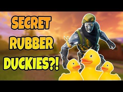 NEW SECRET RUBBER DUCKIES in Fornite Battle Royale!