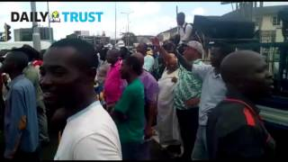 Voices from anti-fuel price hike Lagos protest