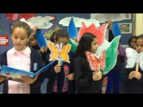 איצטבא - שלושת הפרפרים, מאת: תלמידי כיתה ד' בבית ספר יסודי אלבאטן - אום אלפחם המורה סוכיינה כבהא.