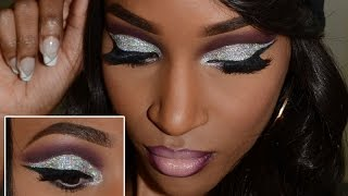 Hey Queens ! I'm back with a glitter cut crease tutorial. Not to mention, this is episode 4 of my Glitter Queen series. It features this 3d silver glitter an...