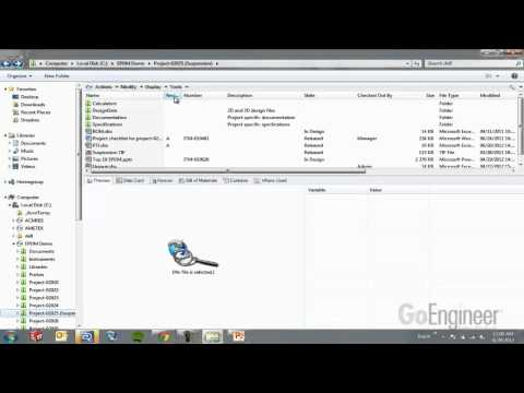 PDM - Learn how to keep your project organized and on-schedule using SolidWorks Enterprise PDM. Track and manage 3D part files from SolidWorks, PDFs, Word and othe...