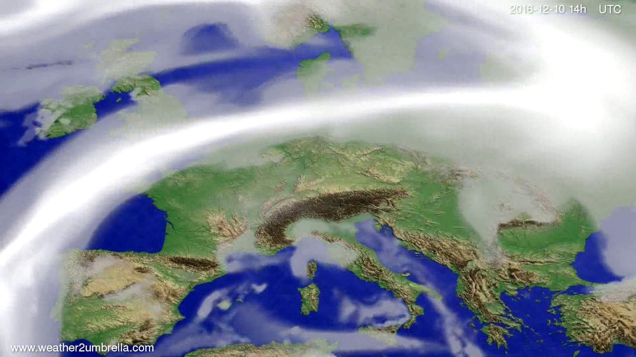Cloud forecast Europe 2016-12-06