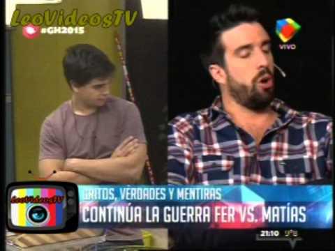 Fernando no le cree y ningunea a Matias GH 2015 #GH2015 #GranHermano