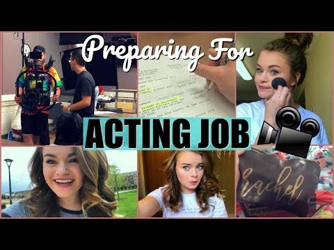 Preparing for an Acting Job! Vlog Style- Getting Camera Ready, What I Brought, etc.