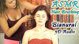 Binaural ASMR Head Massage, Hair Brushing, Ear to Ear Whisper For Relaxation & Sleep - YouTube