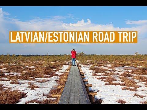 DRIVING AROUND LATVIA AND ESTONIA   BALTIC ROAD TRIP