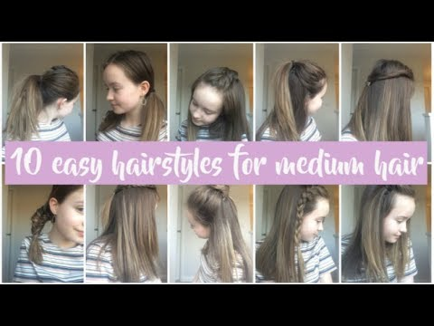 10 easy hairstyles for medium hair! Quick, simple and heatless hairstyles for school!