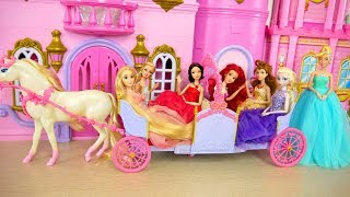 Video Princess Barbie Expandable Carriage Princess doll New Dresses Putri Barbie Gaun Vestidos Princesa MP3, 3GP, MP4, WEBM, AVI, FLV Juli 2018