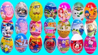 SURPRISE EGGS PEPPA PIG MICKEY MOUSE MINNIE МASHA AND THE BEAR POCOYO FROZEN SPIDER-MAN SUPER MARIO