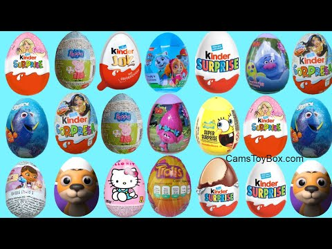 Chocolate Surprise Eggs Paw Patrol Finding Dory Barbie Kinder Dora the Explorer Peppa Pig Toys Joy