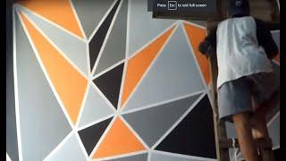 Video cara mengecat kamar dengan motif geometric MP3, 3GP, MP4, WEBM, AVI, FLV Juni 2019
