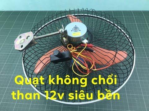 hướng dẫn chế quạt acquy 12v không chổi than từ mô tơ máy phô tô - Thời lượng: 9 phút, 21 giây.