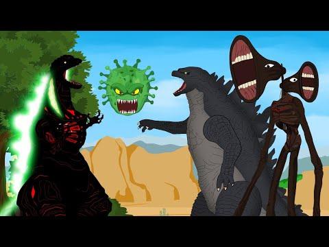 Godzilla vs Shin Godzilla: CORONAVIRUS Attack Shin Godzilla - Siren Head   Godzilla Animation