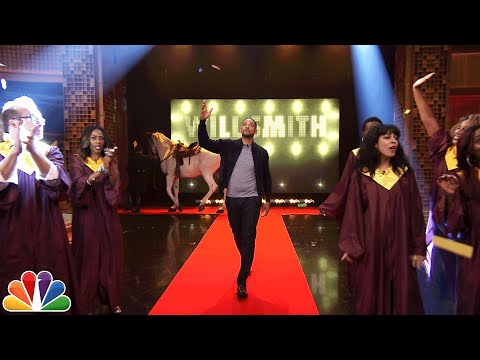 Will Smith s OvertheTop Tonight Show Entrance