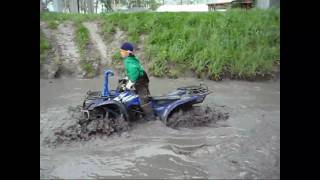 5. 2007 Yamaha Wolverine 450 27' Mudlites in a Canal