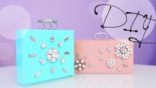 DIY Jewelry Clutch Box - Great Gift Idea | ANENROSHINE - YouTube