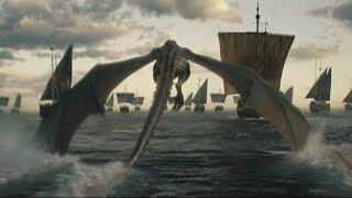 Con miles de inmaculados, parte de la casa Greyjoy, tres dragones maduros, toda la flota de los amos derrotados, un ejército de dothrakis, la casa Tyrell y la ...