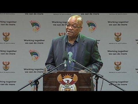 Zuma announces Nelson Mandela's funeral arrangements