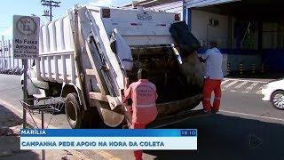Marília: campanha conscientiza a população sobre o jeito certo de descartar o lixo