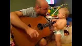 Baby Rock Out While Daddy Playing Bon Jovi