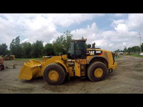 CATERPILLAR CARGADORES DE RUEDAS 980K equipment video w7MoPQqSC98