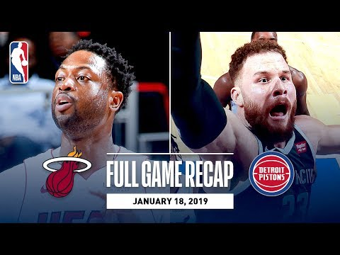 Video: Full Game Recap: Heat vs Pistons   Dwyane Wade's Last Game In Detroit