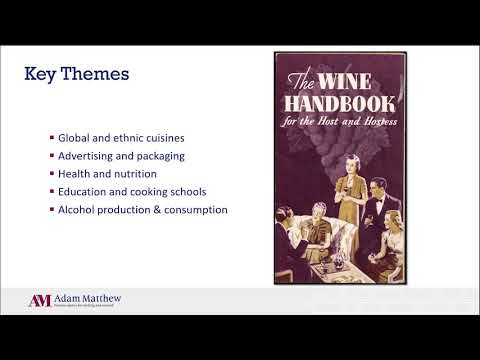 Food and Drink in History - New for 2020