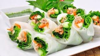 Fresh Vegetable Rice Wraps - Kuay Tiew Lui Suan (ก๋วยเตี๋ยวลุยสวน)
