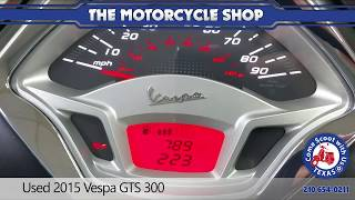 7. Used 2015 Vespa GTS 300 scooter