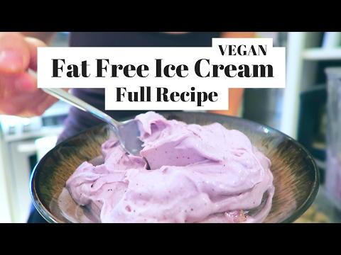 EASY VEGAN RECIPE | ICE CREAM | FAT FREE | LAVENDER VANILLA