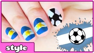 World Cup Nail Art : Argentina