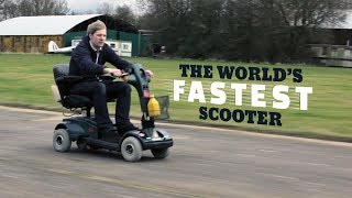 This Insane Inventor Built The World's Fastest Mobility Scooter   Colin Furze