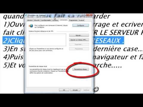 comment reparer serveur proxy