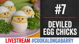 Deviled Egg Chicks - Livestream 7 #cookalongabarry by  My Virgin Kitchen