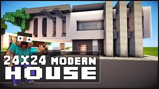 minecraft house tutorial 24x24 modern house vidinfo
